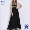 Yihao New Designs Girls 2016 Women Beach Long Ladies Tribal Embroidery Dresses Elegant Fashion Party Black Maxi Casual Dress