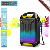 active BT 3.0 portable speaker with remote control RGB light karaoke function radio and belt