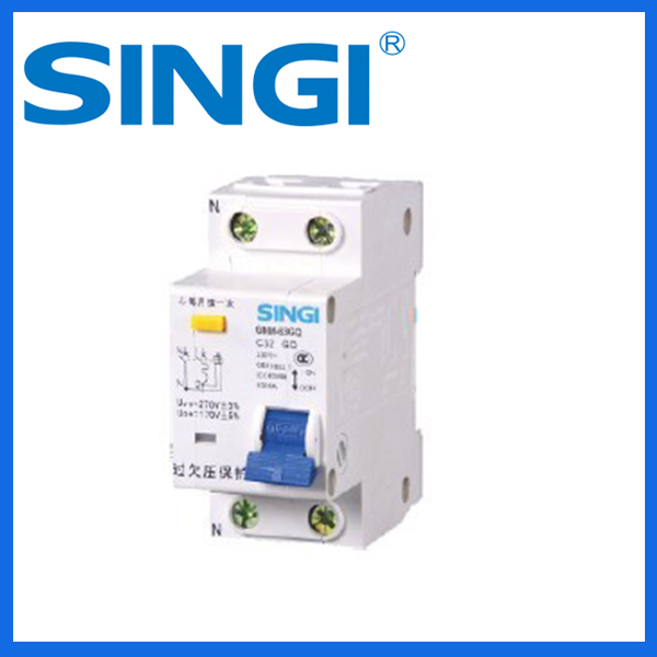 Over under voltage protection mini circuit breaker