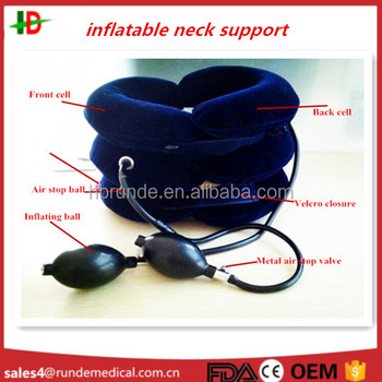 Runde neck support inflatable with full flannel