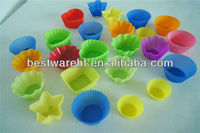 silicone decorating FDA mini muffin cups