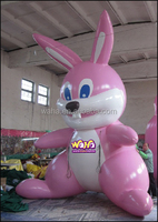 Inflatable easter rabbit