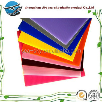 2-12mm different thickness pp hollow board,correx sheet,pp material sheet