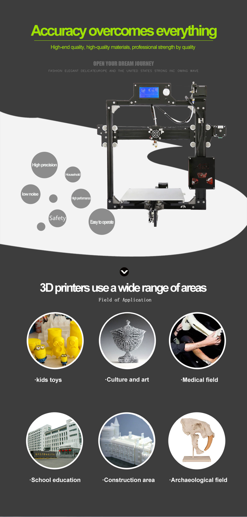 Cheapest price Anet A2 3D Printer/Anet A2 DIY 3D Printer Price Original Manufacturer
