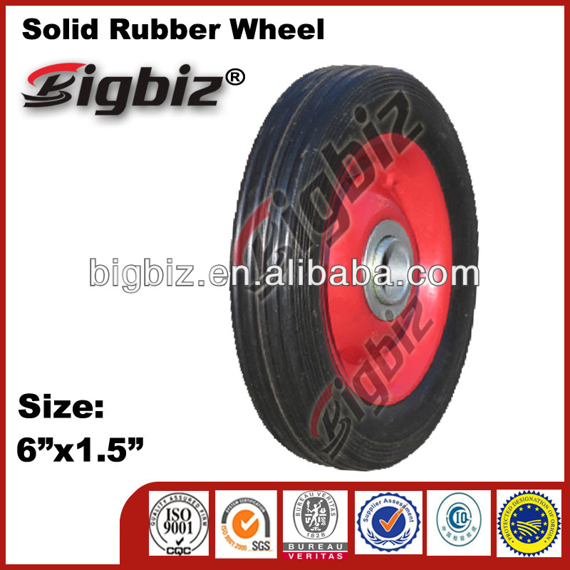 "High quality 6"" toy rubber wheels"