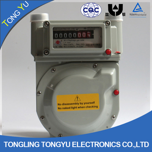 electronic gas meter g1.6 ,g2.5 ,g4 ,g6 natural gas flow meter