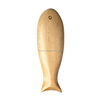 Vintage Natural Handmade Wooden Fish Decoration
