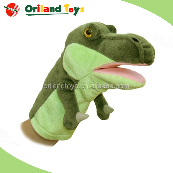 frog fish dinosaur dog toy hand puppet