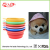 100% Food Grade Eco-friendly Travel Collapsible Silicone Pet Dog Bowl