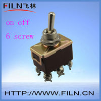 mini 6 pin 2 way dpdt momentary toggle switch