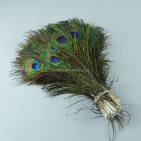 Wholesale 50-55cm beautiful Natural Peacock Feathers for eyes
