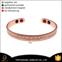 Copper Magnetic Bracelet with 2 large Magnets. Health Energy Magnetic Arthritis Bangle For Men Women