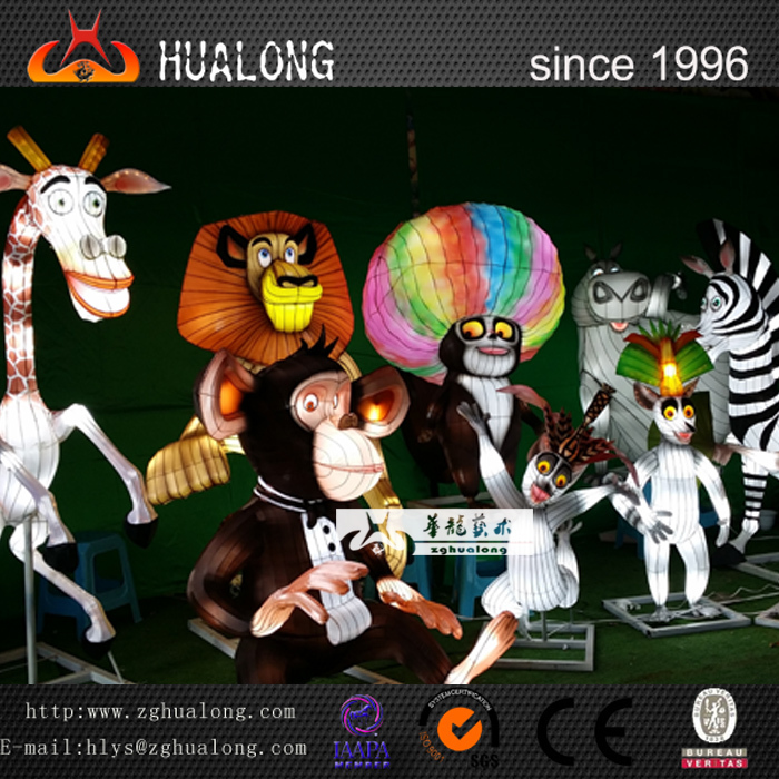 Madagascar Lantern Show for Outdoor Playground Equipment