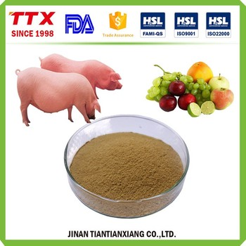 Pig feed additive flavoring fruit and milk powder