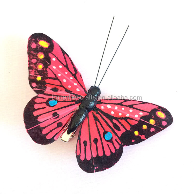 Artificial butterfly for holiday decorations
