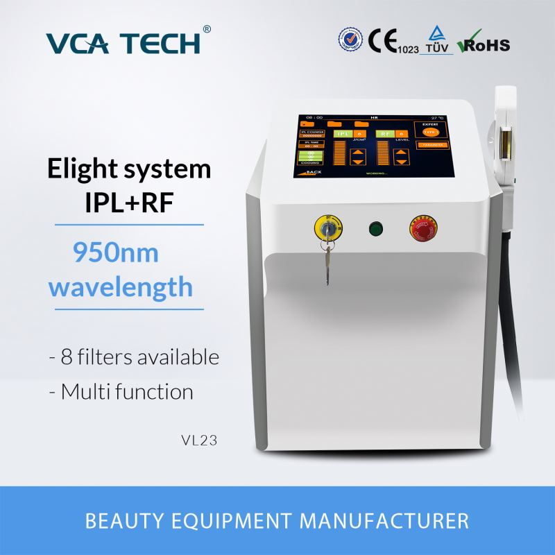VCA TECH silver ipl rf new arrival 2017 elight laser head