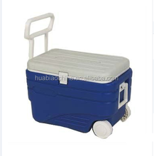 Hot sale Food grade plastic vaccine ice cooler box with wheels