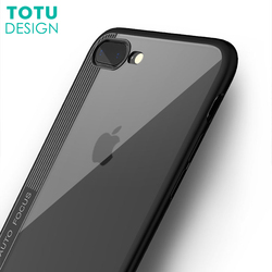 Ultra Thin Silicon TPU + Acrylic transparent Back Cover phone case for Iphone X