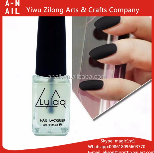 New Arrival Top Quality 6ML/ Bottle Magic Super Matte Nail Polish Transparent Nails Art Gel Frosted Surface Oil Nail Polish
