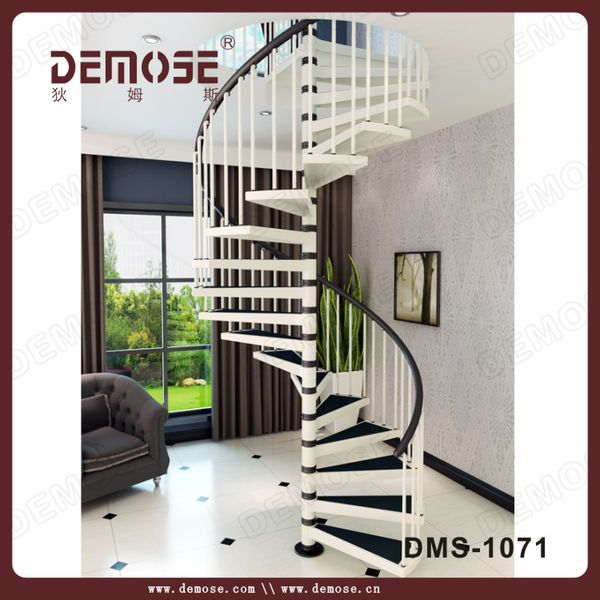 spiral stairs/factory quality spiral stairs/pvc handrail spiral stairs
