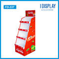 Hot sale Retail store Cardboard floor display rack for snacks/chocolates