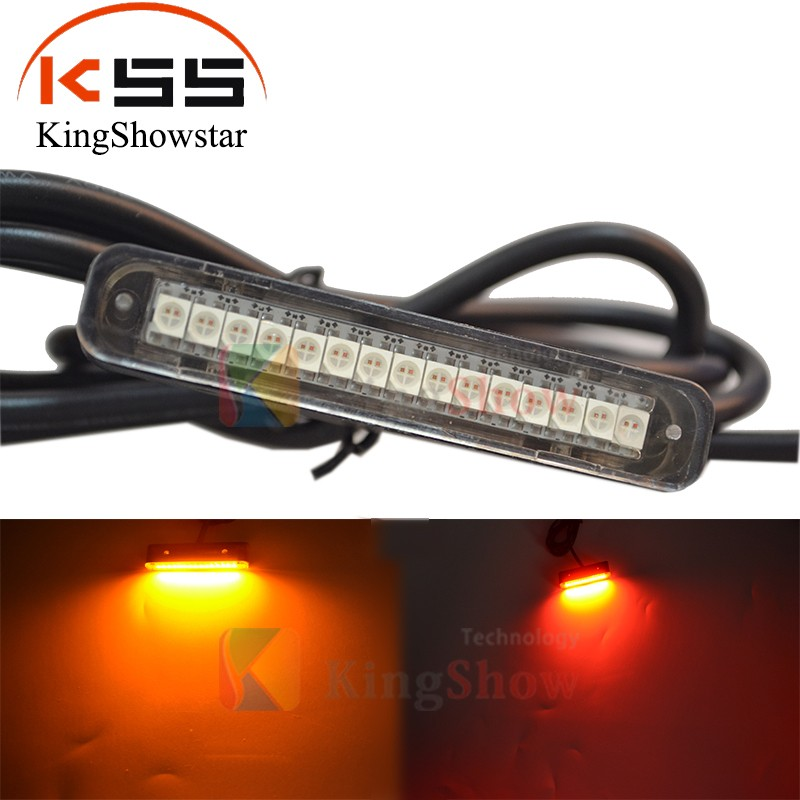 1xLED Waterproof Plate light with 15 Red & Yellow LED License Plate Light,Backup Light ,tail light or Brake Light for Motorcycle