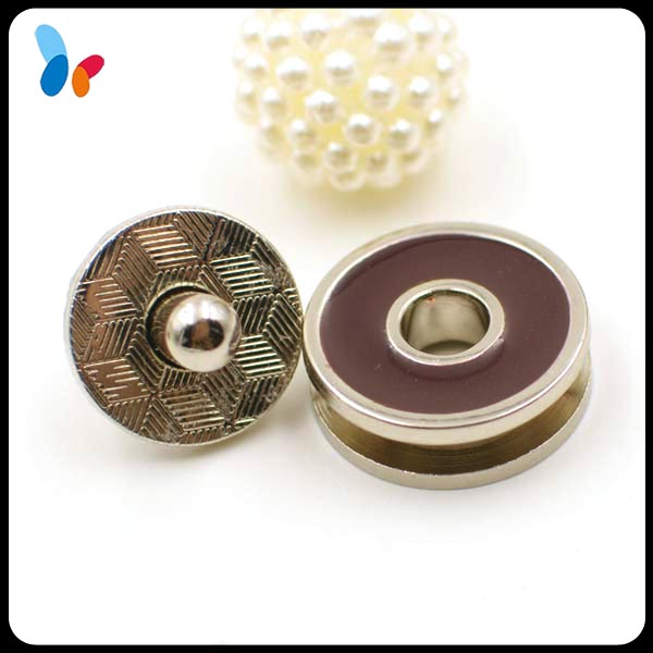 round alloy metal magnet snap button for handbags