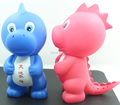 Factory cheap blue plastic dinosaur shaped coin bank/plastic custom safe money saving box for kids/piggy bank makers
