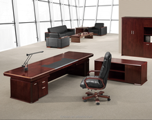 Luxury antique style wood veneer MDF executive presidential office desk