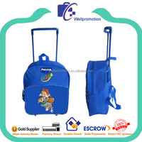 wellpromotion small kids trolley backpack for school bags