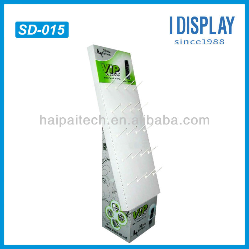 fashional jewelery corrugated cardboard display for promotion