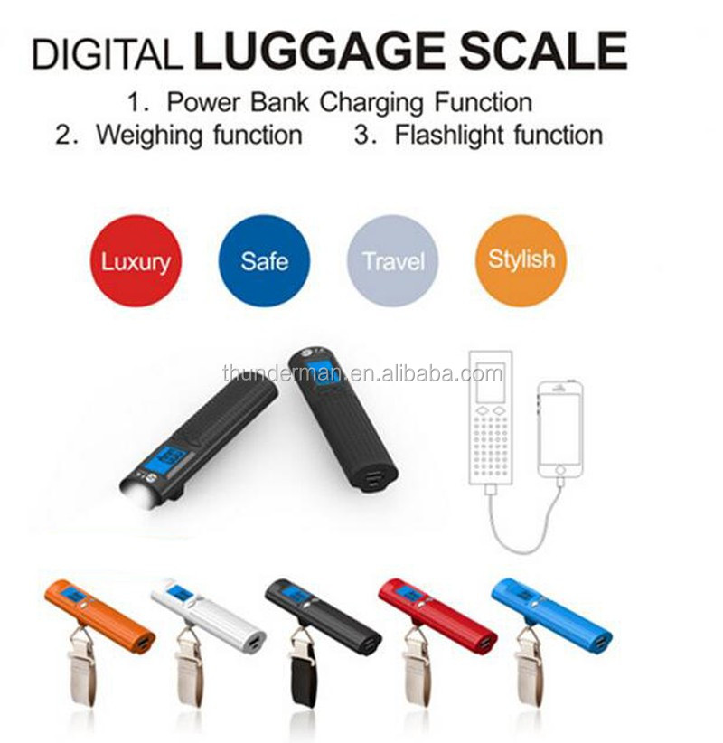 Newly 50kg digital luggage scale with 2600mAh Mobile battery