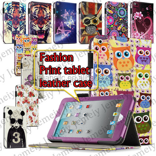 "New Universal 9.7"" Folio Flowers/Animal/Butterful Printing PU Leather Case Cover For ipad 2 3 4 Free Shipping"