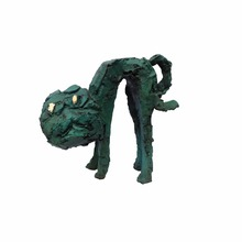 Cast copper coloring bronze animal abstract sculpture for garden decoration