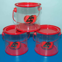 Clear PET Bucket for Promotion