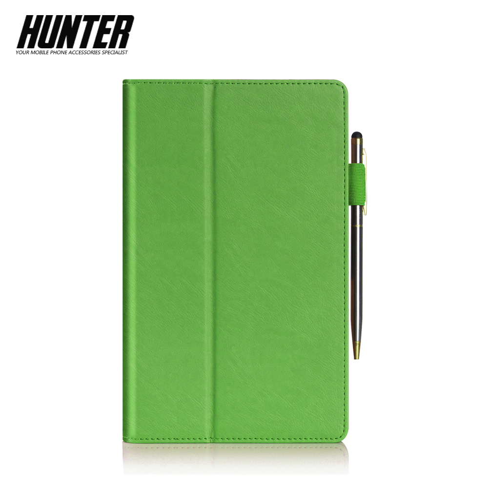 Green PU Leather Wallet Case For 8 Inch Tablet