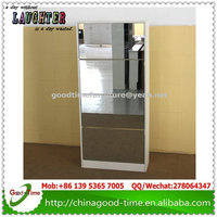 shoe storage cabinet wooden furniture shoe cabinet with mirror