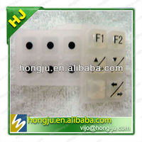 Serviceable silicone keypad for mobile phone