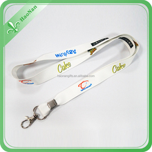 Factory direct sale custom festival fabric polyester lanyard no minimum order