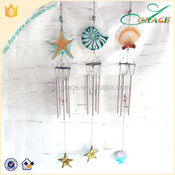 summer souvenirs glass wind chime Marine ocean shell wind chime