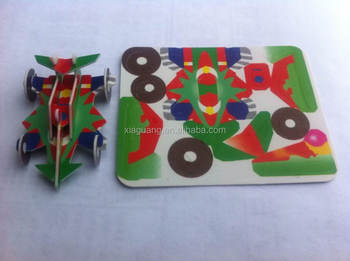 Promotional Advertising Boy toys Plastic PS or PP building puzzle tazo