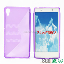 Protective Waterproof Soft Cell Phone Case S Line TPU for Sony Z4V E6508