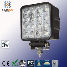 Factory direct auto 48w led work light lamp, light led work light, 48w 12v 24v for jeep truck led tractor work light
