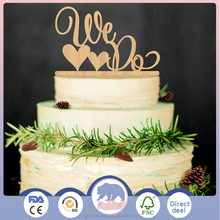 Wedding Cake Topper WE DO Wood Wedding Cake Decorations