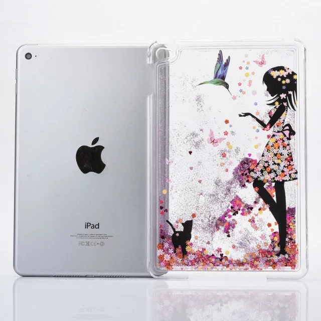 Fashion Colorful Liquid Glitter Quicksand Cover for iPad Mini 4 Case
