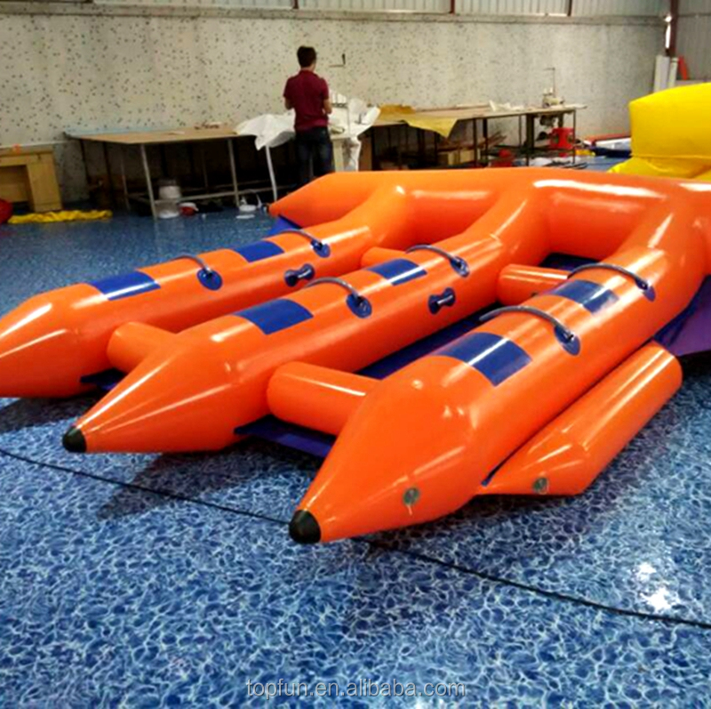 Factory inflatable banana boat fly fish water sports