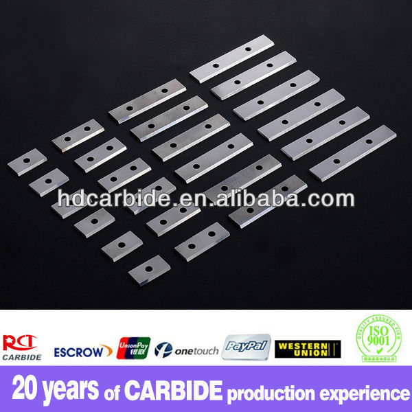 double hole tungsten carbide planer blade