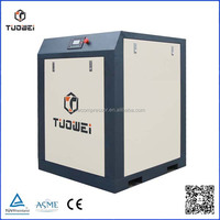 Oil lubricated and energy saving screw type air compressor for welding