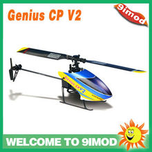 Walkera Genius CP V2 Flybarless 6 Axis 3DGyro Micro 2G Digital Servo Rechargeable RC Helicopter Heli Kit (no TX)--Blue