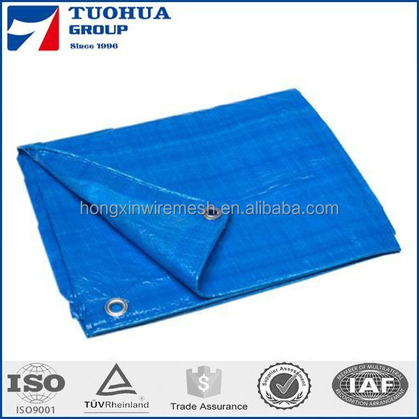 China pe Tarpaulin factory / 160gsm UV protection waterproof Blue white PE tarpaulin